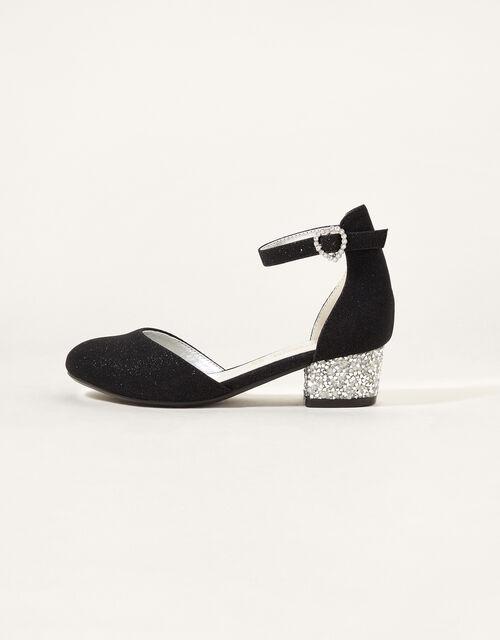 Shimmer Two-Part Heeled Shoes, Black (BLACK), large