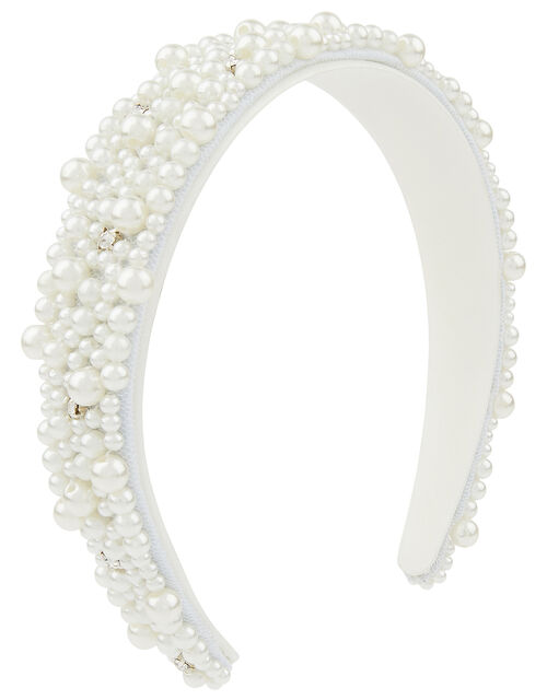 Penelope Pearl and Diamante Headband, , large