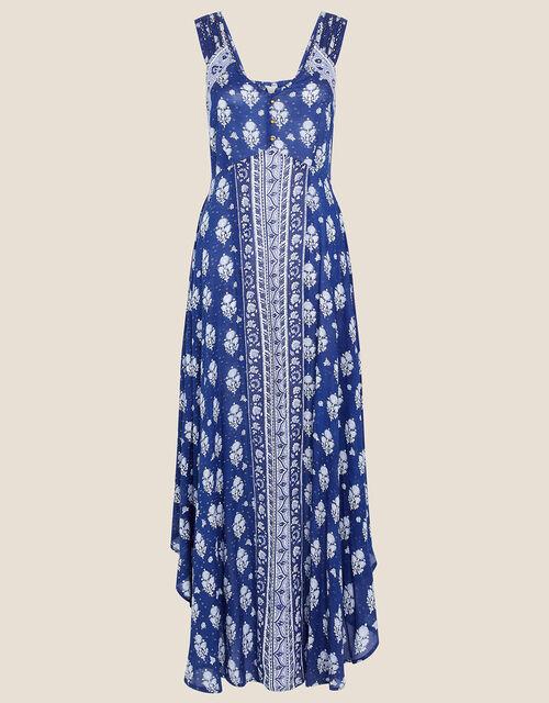 Evy Patch Print Dress, Blue (NAVY), large