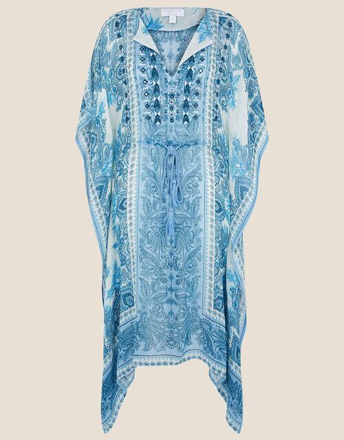 Roxanna Printed Katfan, Blue (BLUE), large