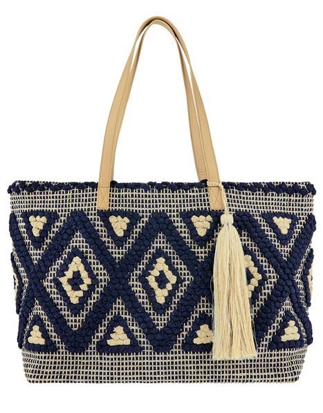 Cotton Weave Shopper Bag, , large
