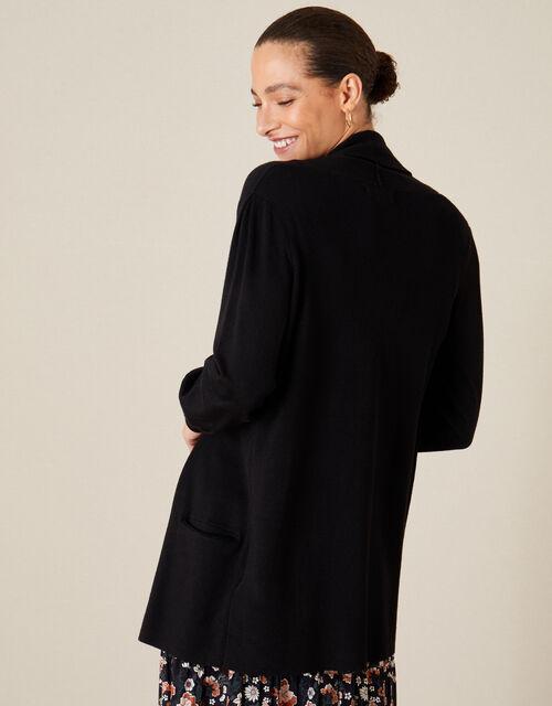 Sandy Shawl Collar Pocket Cardigan, Black (BLACK), large