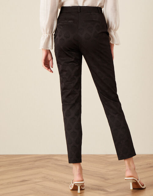 Josie Jacquard Trousers, Brown (CHOCOLATE), large