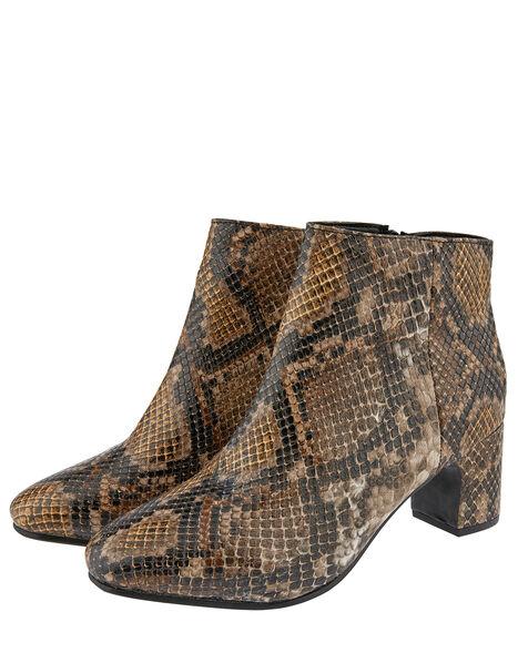 Selena Snake Ankle Boots Multi, Multi (MULTI), large