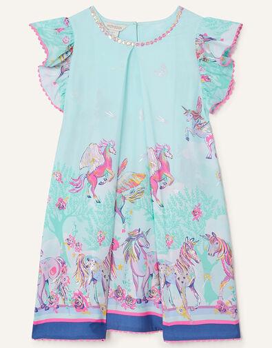 Unicorn Sparkle Swing Dress  Blue, Blue (AQUA), large