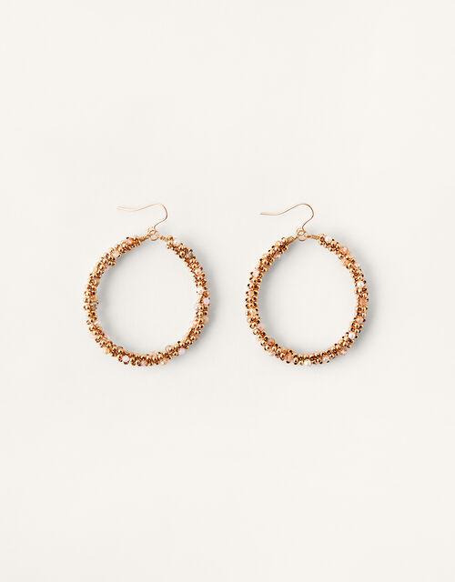 Beaded Hoop Earrings, , large