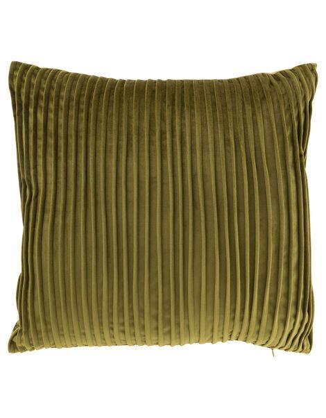 Pleated Velvet Square Cushion, , large