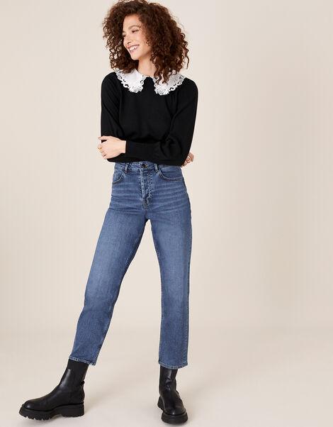 Straight Leg Jeans  Blue, Blue (DENIM BLUE), large