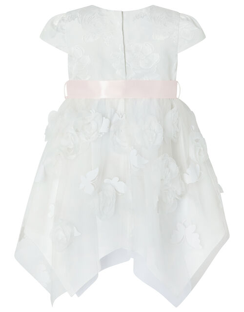 Baby Leilani Floral Butterfly Dress, Ivory (IVORY), large