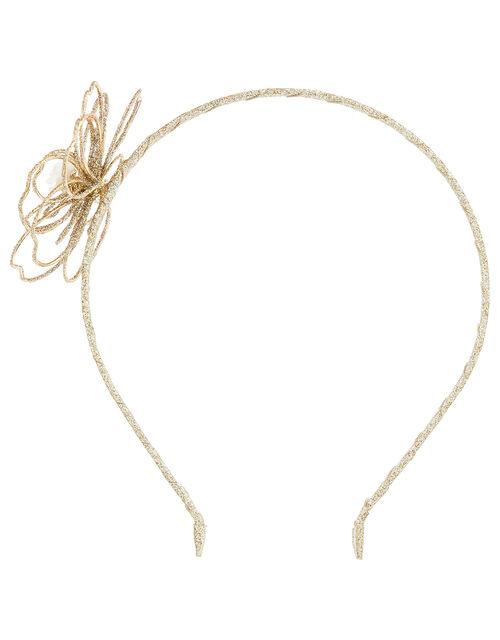 Glittery Flower Headband, , large
