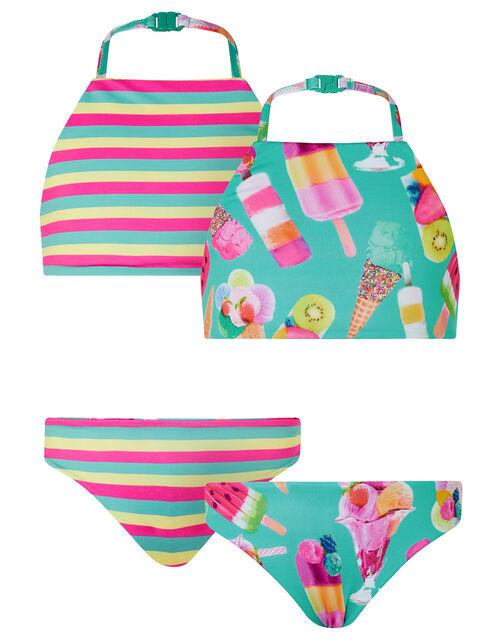 Sundae Reversible Bikini Set with Recycled Polyester, Green (GREEN), large