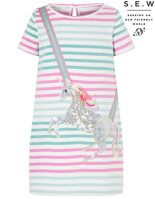 Blake Sequin Unicorn Sweat Dress, Multi (MULTI), large