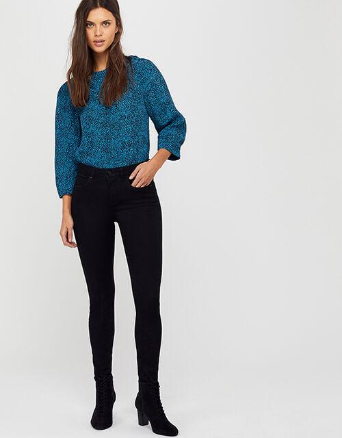 Nadine Regular Jeans, Black (BLACK), large