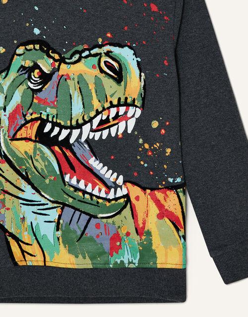 Splatter Dinosaur Hoody , Grey (CHARCOAL), large