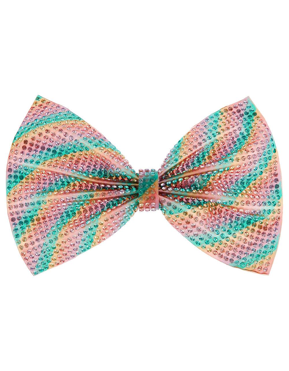 Roxy Rainbow Dazzle Bow Hair Clip, , large