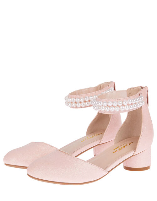 Sweet Petal Pearl Strap Shoes, Pink (PINK), large