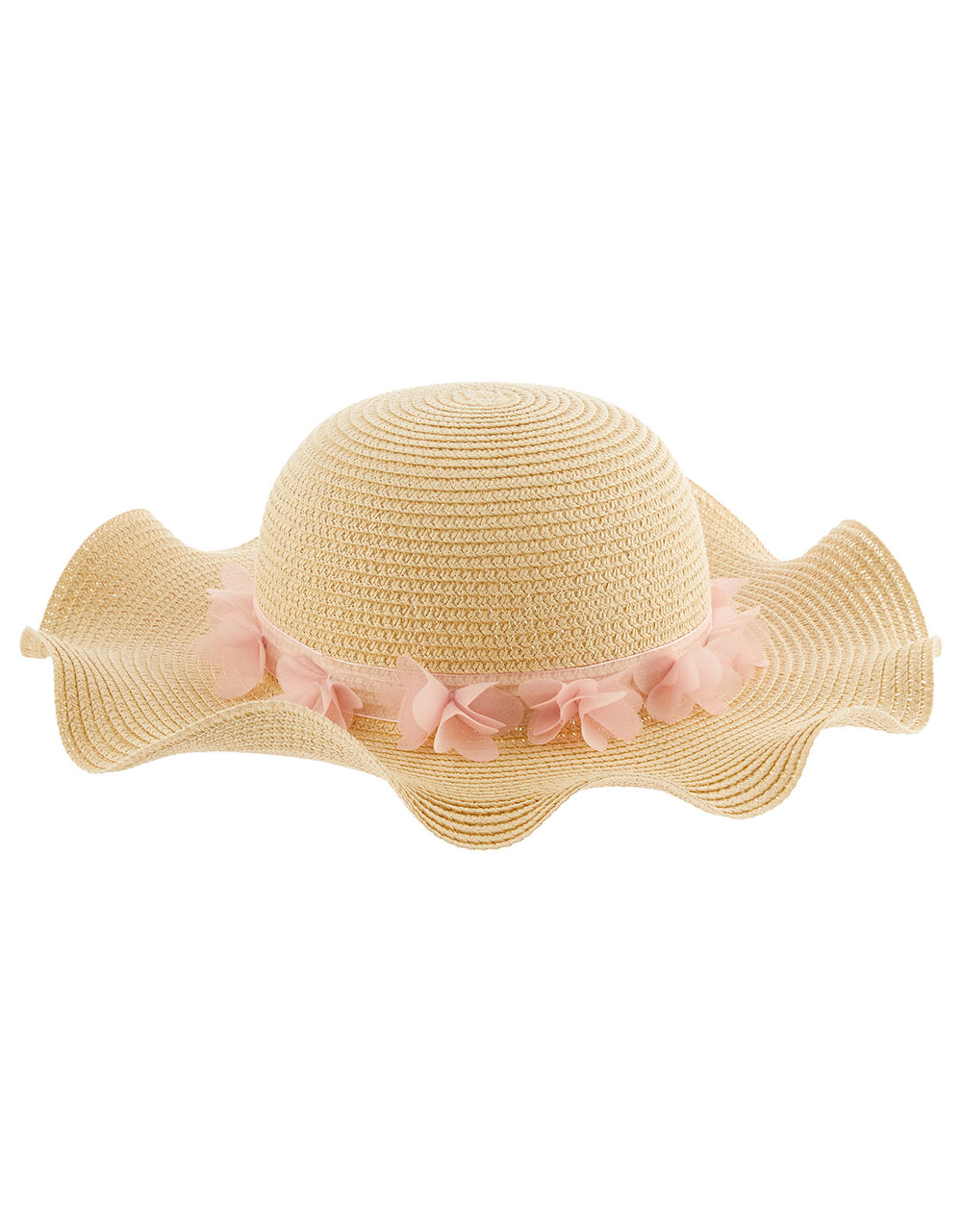 Macaroon Butterfly Floppy Hat , Natural (NATURAL), large