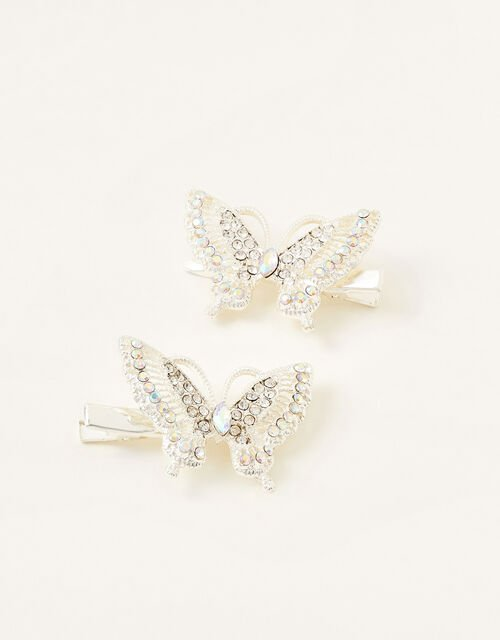 Sparkle Butterfly Hair Clips, , large