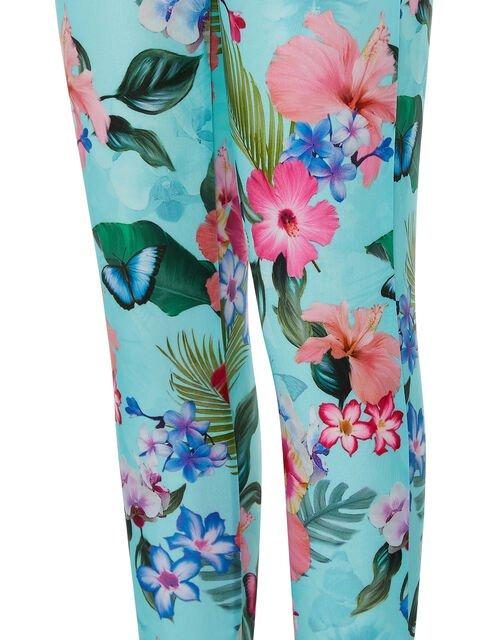 Fergie Flower Sunsafe Leggings with Recycled Polyester, Blue (TURQUOISE), large