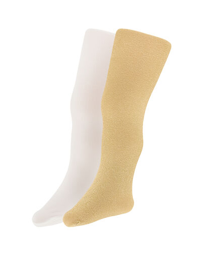 Baby Sparkly Nylon Tights Set Gold, Gold (GOLD), large
