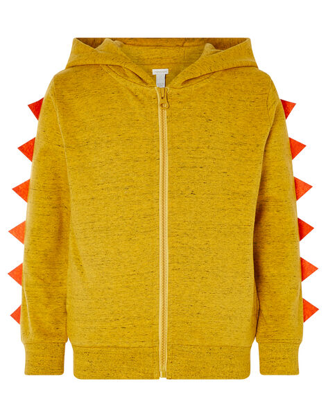 Lion Zip-Through Hoody Yellow, Yellow (MUSTARD), large