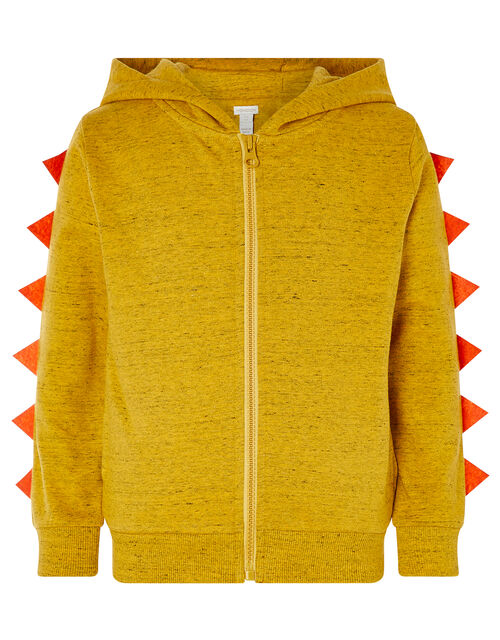 Lion Zip-Through Hoody, Yellow (MUSTARD), large