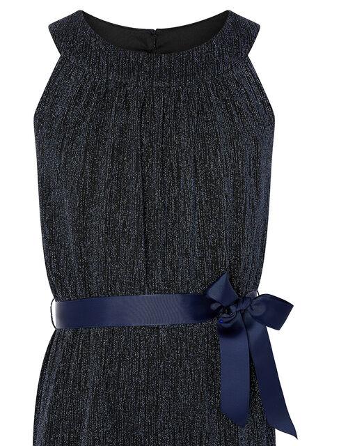 Shimmer Halter Jumpsuit, Blue (NAVY), large