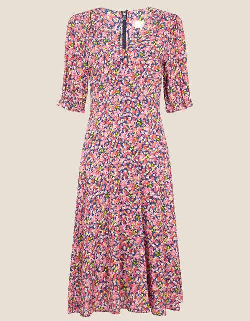 Jolene Floral Collared Dress, Blue (NAVY), large