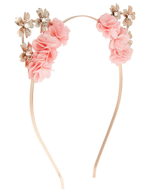 Shimmer Flower Cat Ears Headband , , large