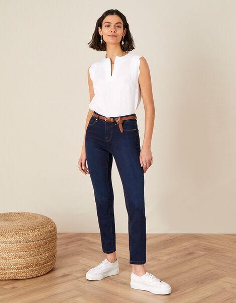 Azura Premium Regular Jeans with Sustainable Fabric Blue, Blue (DARK BLUE), large