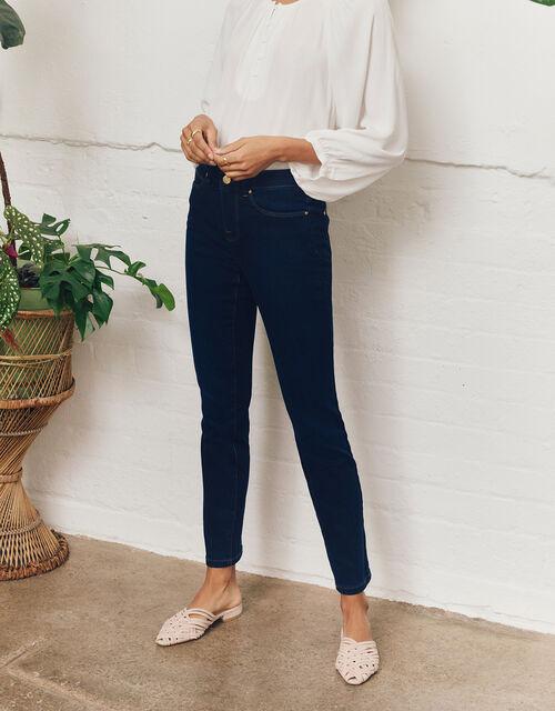 Azura Premium Short-Length Jeans, Blue (DARK BLUE), large