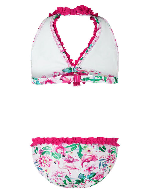 Floella Floral Flamingo Bikini Set with Recycled Polyester, Pink (PALE PINK), large