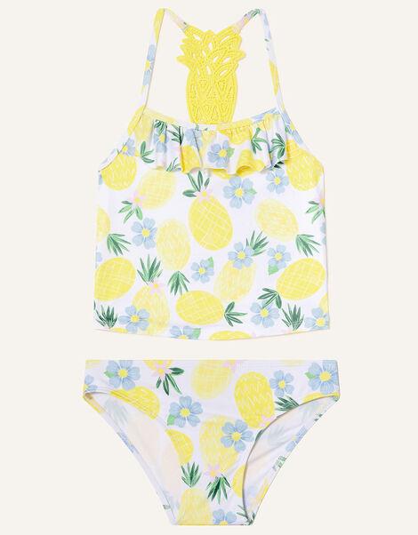 Pineapple Crochet Tankini Set Yellow, Yellow (YELLOW), large