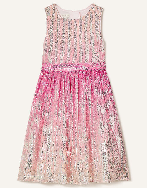 Ombre Sequin Dress, Pink (PINK), large