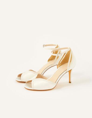 Kirsty Peep Toe Bridal Sandals Ivory, Ivory (IVORY), large