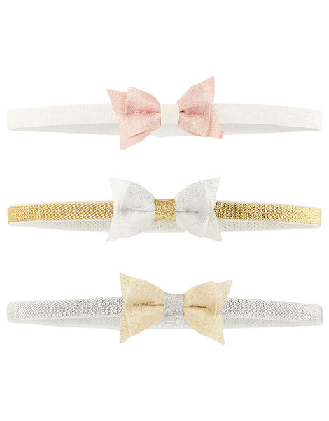 Baby Shimmer Bow Bando Multipack, , large