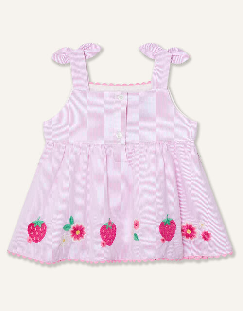 Baby Strawberry Top and Shorts Set, Pink (PINK), large