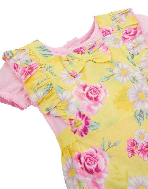 Newborn Baby Floral Romper Set, Yellow (YELLOW), large