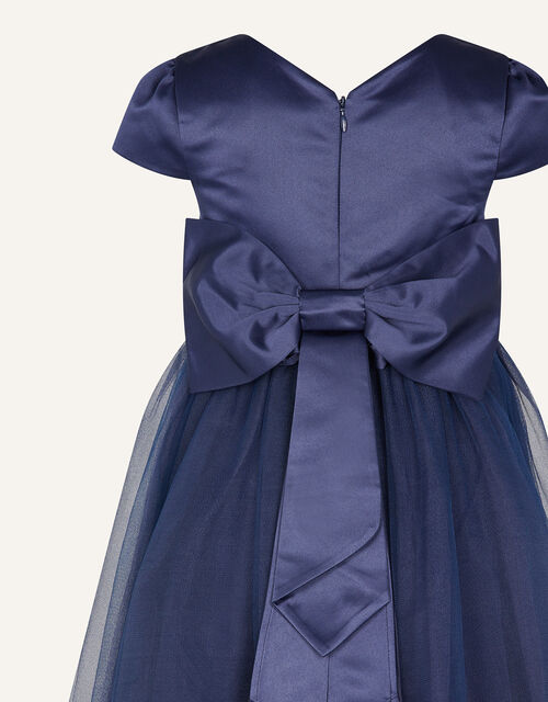 Tulle Bridesmaid Dress, Blue (NAVY), large