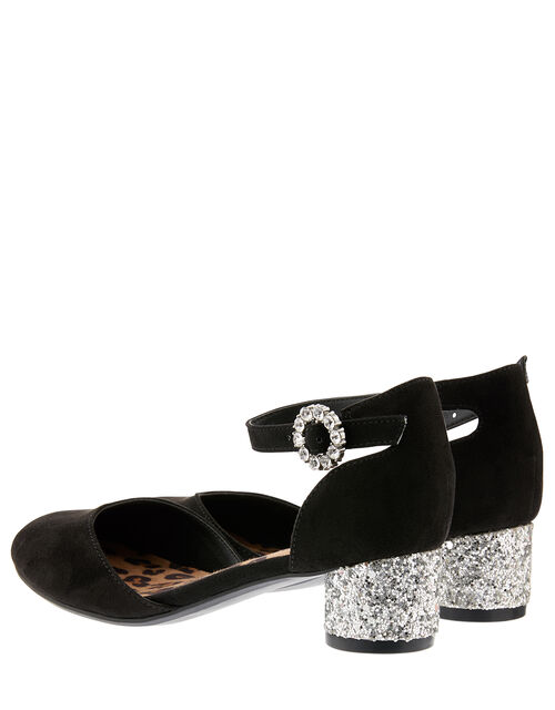 Ada Two-Part Glitter Shoes, Black (BLACK), large
