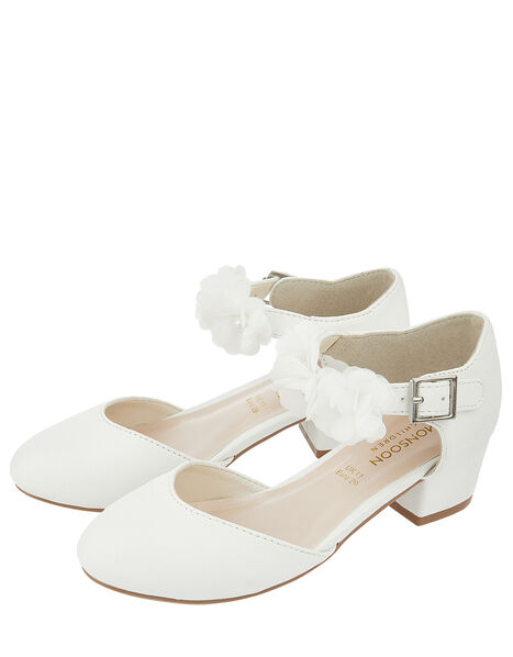 Macaroon Ivory Two Part Floral Shoe Ivory, Ivory (IVORY), large
