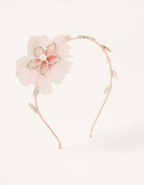 Posie Flower Diamante Headband, , large