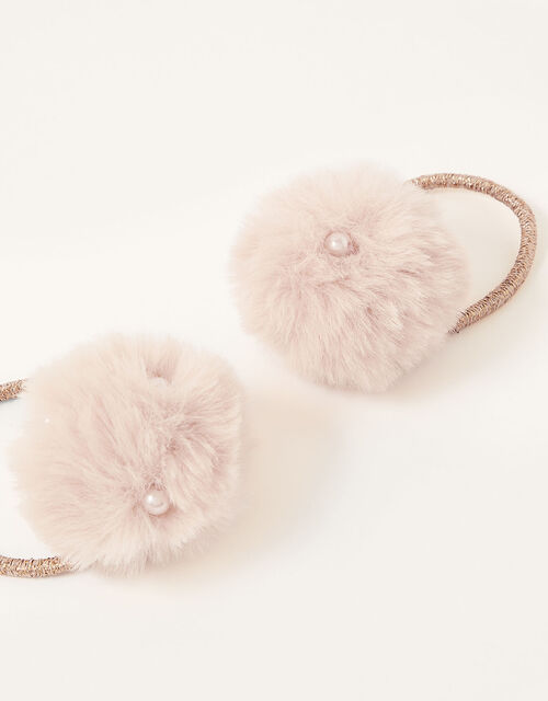 Pearly Pom-Pom Hairbands, , large