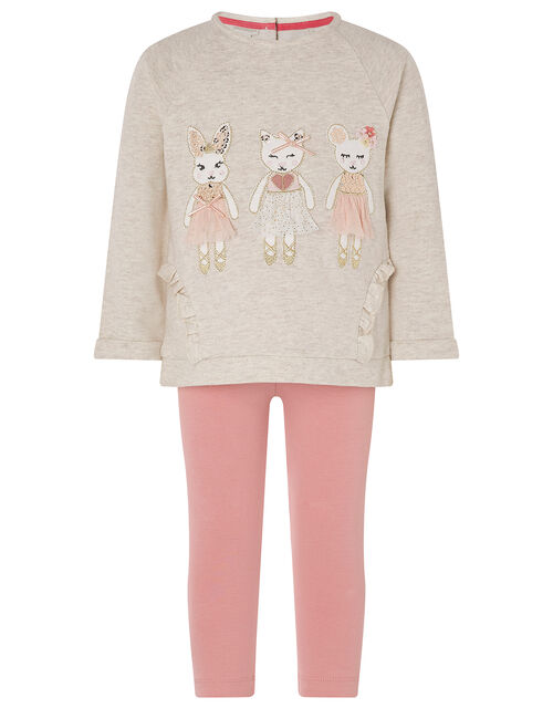 Baby Mouse Set with Organic Cotton, Camel (OATMEAL), large