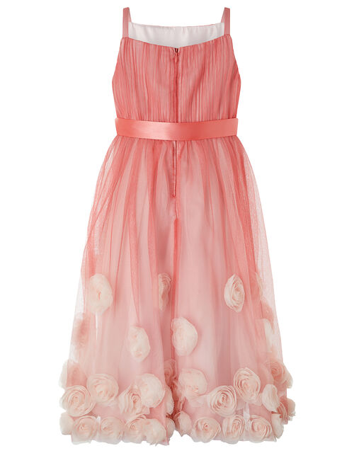 Sienna 3D Rose Occasion Dress, Pink (PINK), large