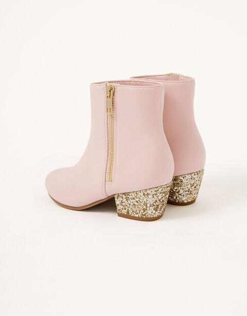 Glitter Heel Boots, Pink (PINK), large