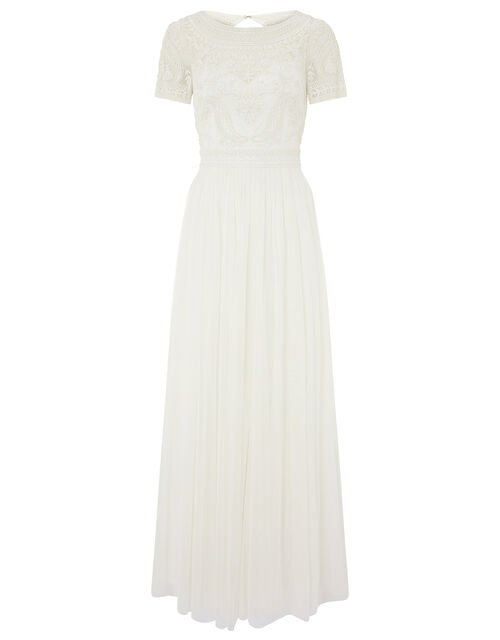 Beatrice Embellished Bridal Maxi Dress, Ivory (IVORY), large