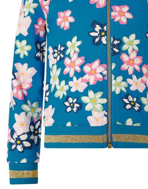 Bold Floral Bomber Jacket, , large