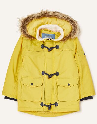 Duffle Parka Coat Yellow, Yellow (MUSTARD), large