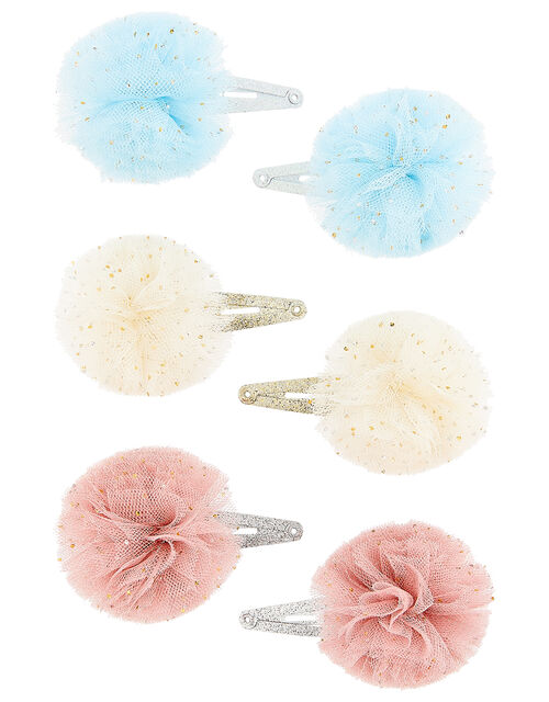 Pom-Pom Hair Clip Multipack, , large